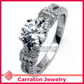 Carraton RSQD1051 Solitare Main Stone CZ Diamond Real 925 Silver Ring