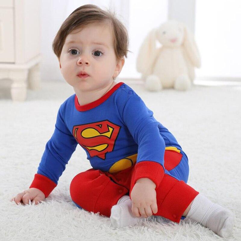 Baby Superman Kigurumi Pajamas Newborn Infant Romper Animal Onesie Cosplay Costume Outfit Jumpsuit Winter Spring Sleepwear Suit