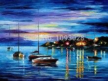 Freies Verschiffen 100% handgemalte Ölgemälde Abstrakten Blauen Ozean Landschaft Korridor Haushalt Schmückt Leinwand Bild Wandkunst