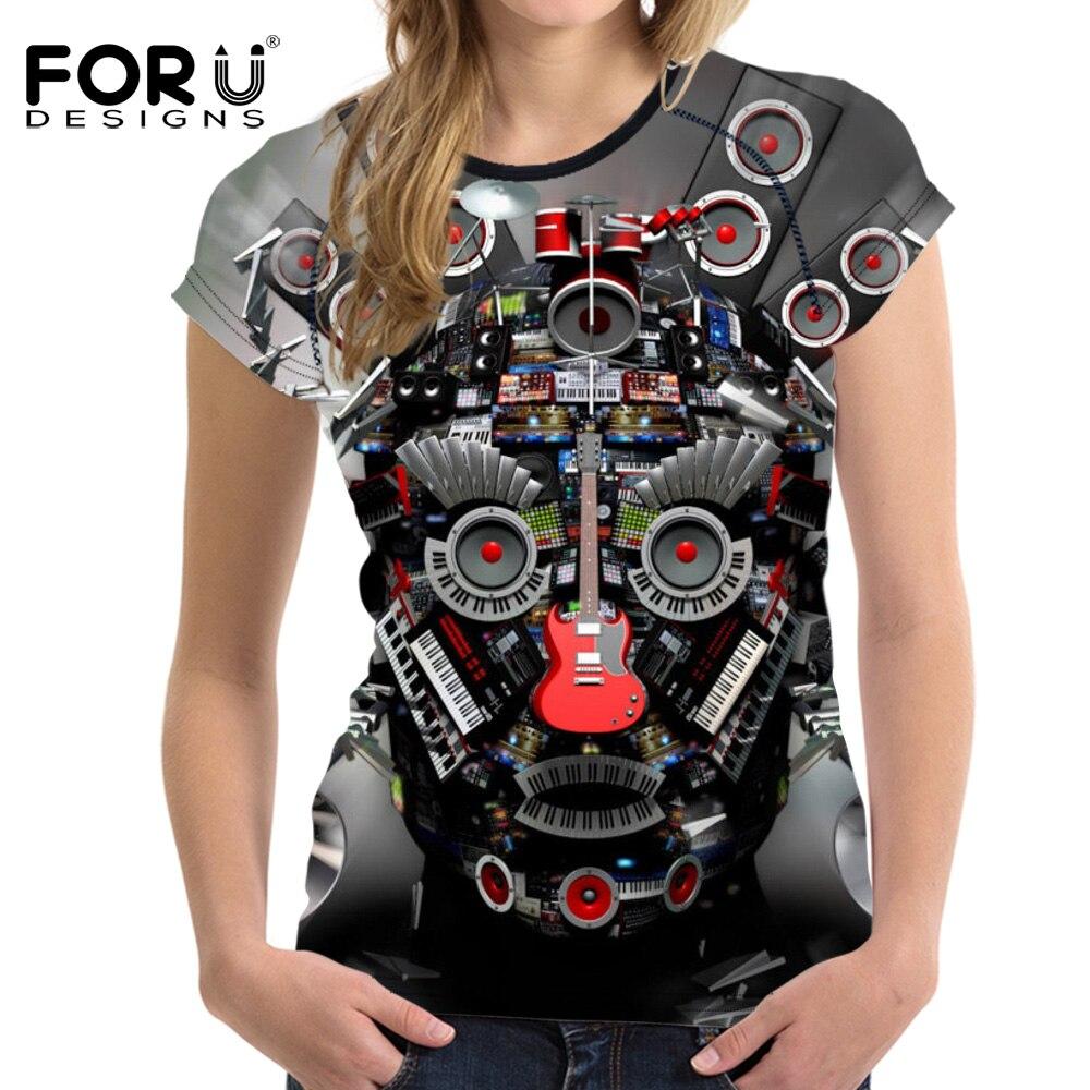 T shirt design hip hop - Forudesigns Dj Music Headphone 3d Printing Women T Shirt Harajuku Hip Hop Style Tees Shirt Tops Tee Female T Shirt New Tshirt In T Shirts From Women S