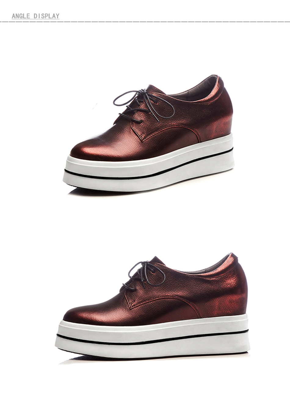 de compensées bout rond à cuir en de printemps Nouvelles chaussures chaussures sport AqYvFU
