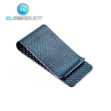 Real Carbon Fiber Blue Genuine 3K Twill Credit Card Business Credit Card Cash Wallet L glossy