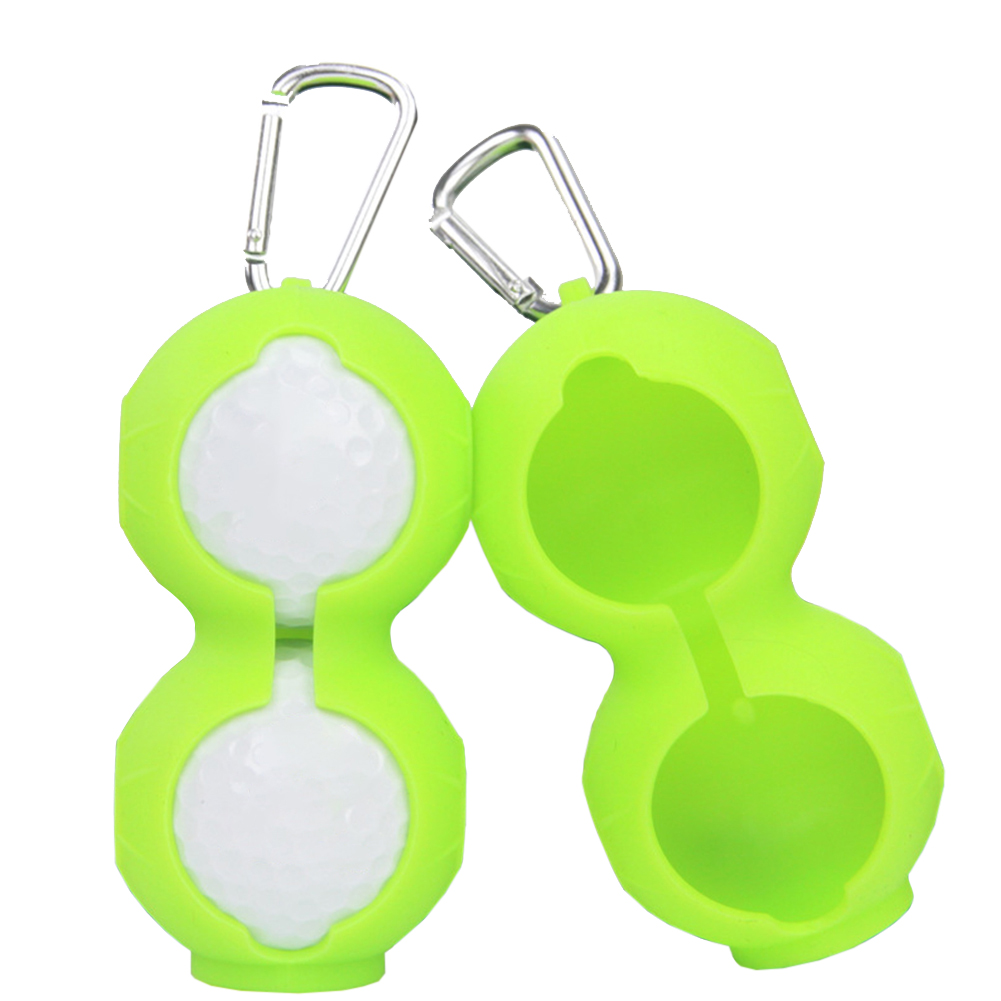 Sleeve Carabiner Protective Holder Double Keyring Fall Resistant Silicone Soft Durable Portable Golf Ball Cover Gift