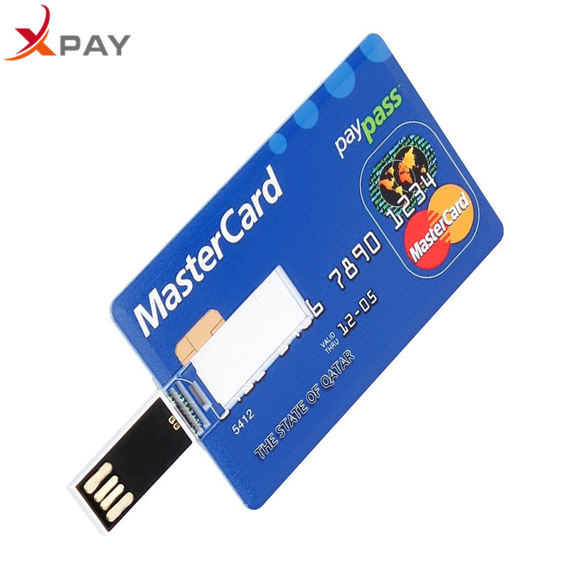 Image 4 - Wholesale Credit Card USB Flash 128GB USB 2.0 flash stick 32GB Pendrive memory stick 64GB real capacity 4GB 8GB 16GB free LOGO-in USB Flash Drives from Computer & Office