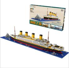Large Yacht Club Cruise Building Blocks Sets Titanic Warships Compatible Pirate Ship Gifts for kids Compatible All цены