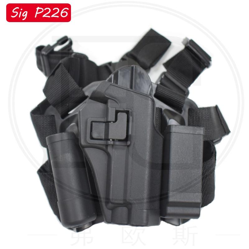 Army Shooting Gun Sig Sauer P226 220 228 229 Pistol Right Hand Leg Holster Airsoft Pistol Thigh Holster