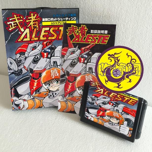 Aleste JP 16 bit SEGA MD Game Card Boxed With Manual For Sega Mega Drive For Genesis