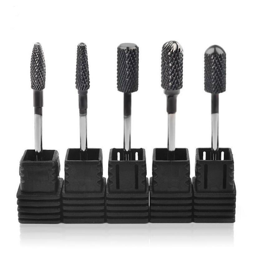 5pcs Pro Gel Nails Drill Bit Diamond Grinding Head Nail Frez Diamentowy Metal 2.35mm Shank Manicure Machine Accessories Skil