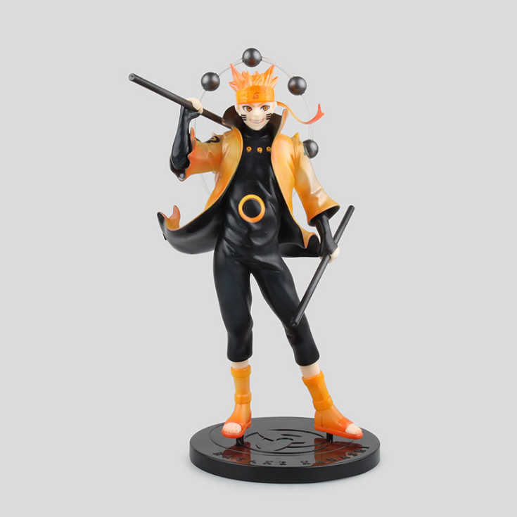 Anime Naruto Rikudo Sennin Mode Uzumaki Naruto PVC Action Figure Toys Kyuubi model toy Doll juguetes brinquedos hot sale hot anime naruto 4th hokage namikaze 6 action figure collectible pvc model gift toy
