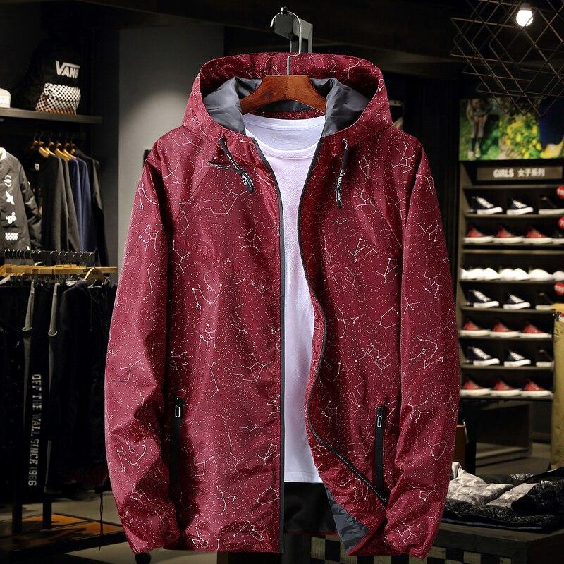 Plus 9XL 8XL 7XL 6XL New Spring Autumn  Jacket Men Casual Slim Patchwork Windbreaker Jacket Male Outwear Zipper Thin Coat