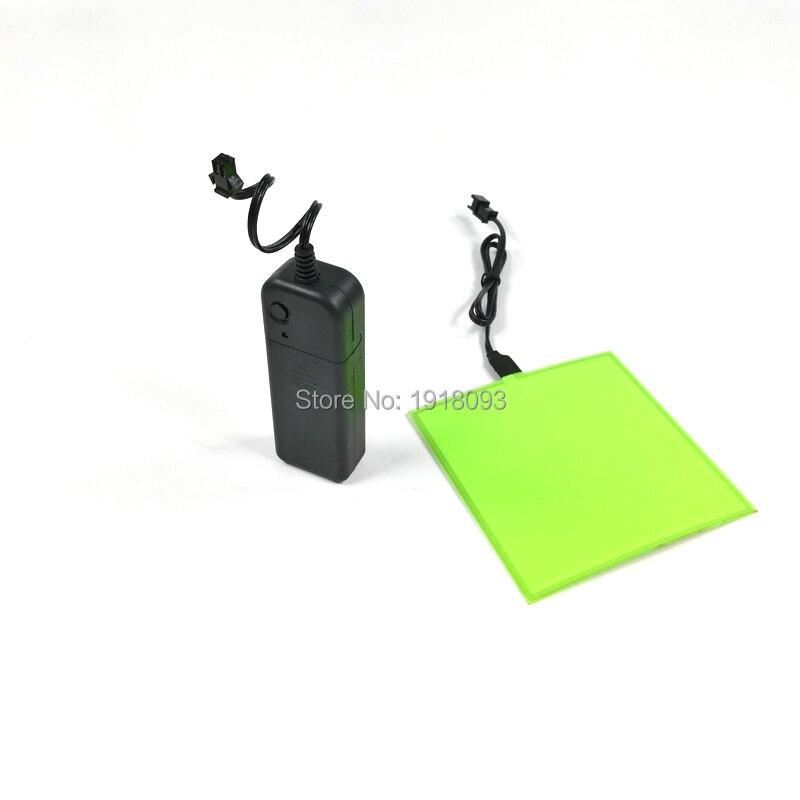 Lighting Color Green 10*10cm EL Panel EL Sheet With DC-3V Steady On Inverter DIY Material Novelty Lights
