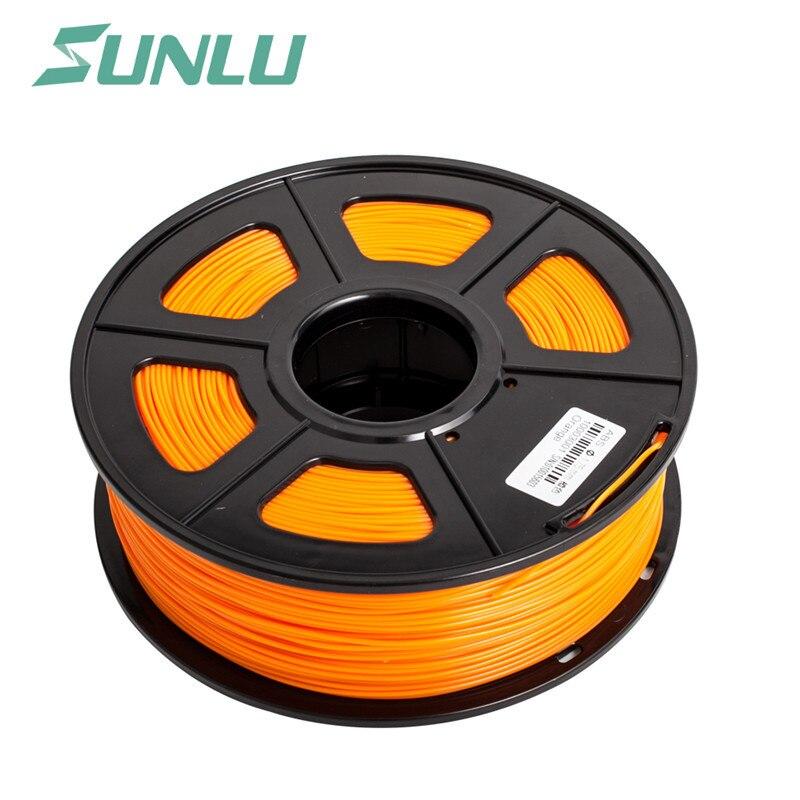 Nouveau 2019 nouveau Sunlu 3D imprimante Filament PCL Orange 1.75mm 1 KG/rouleau matière plastique à basse température pour enfants et adultes
