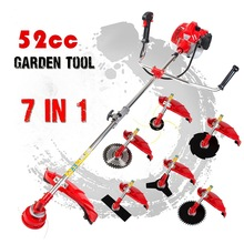 цены 52cc Pole Chainsaw 7 in 1 Brush Cutter Whipper Snipper Hedge Trimmer Garden Multi Tool