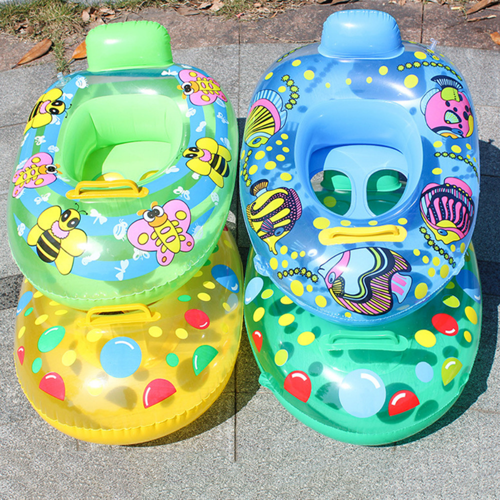 Child Swimming Ring Baby Swimming Ring Pool Seat Toddler Float Ring Aid Trainer Float Water For Kids Cartoon Designs