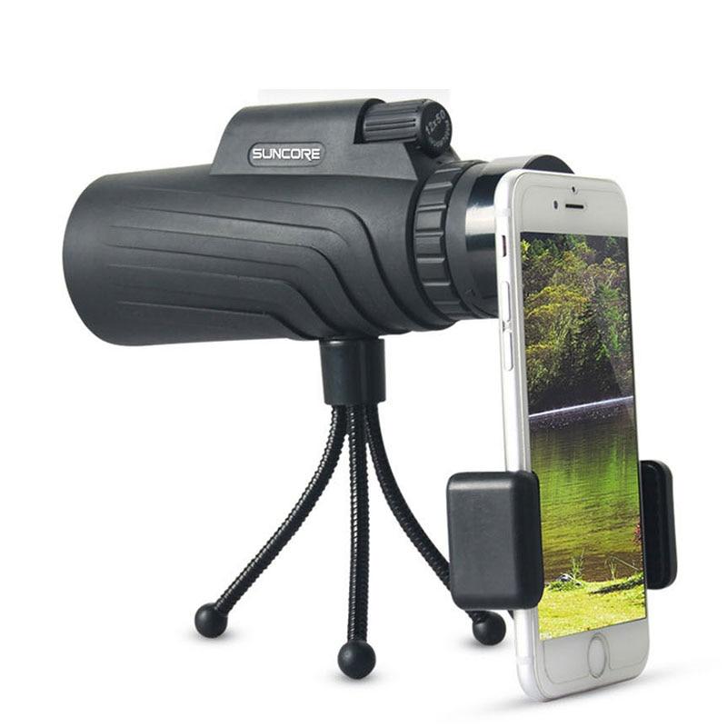 Monocular Zoom 12x50 BAK4 Prism Telescope HD Mini night vision Hunting Scopes With Phone Clip Tripod Turizm Spyglass