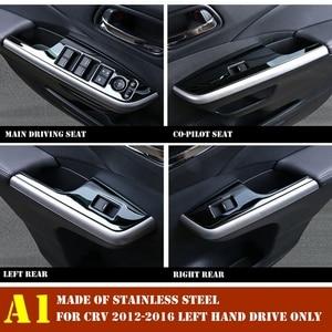 Image 2 - Interior For Honda CRV CR V 2012 2013 2014 2015 2016 Door Handle Holder Window Lift Button Switch Decoration Panel Cover Trim