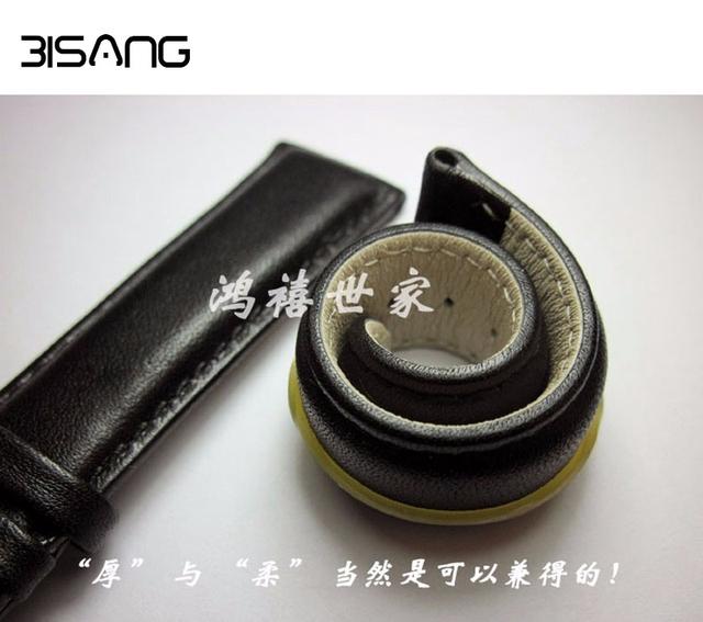Moda 18mm/19mm/20mm/21mm/22mm Couro Genuíno Watch Strap Alta qualidade Pulseiras de Prata Pin Buckle Preto