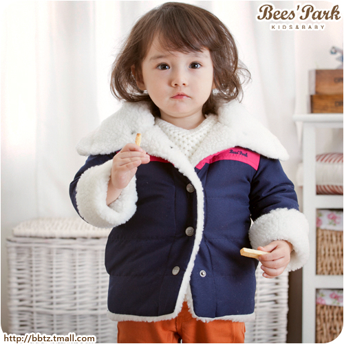Bee male female child baby 2013 spring cotton-padded jacket cotton-padded jacket child thickening children's clothing outerwear