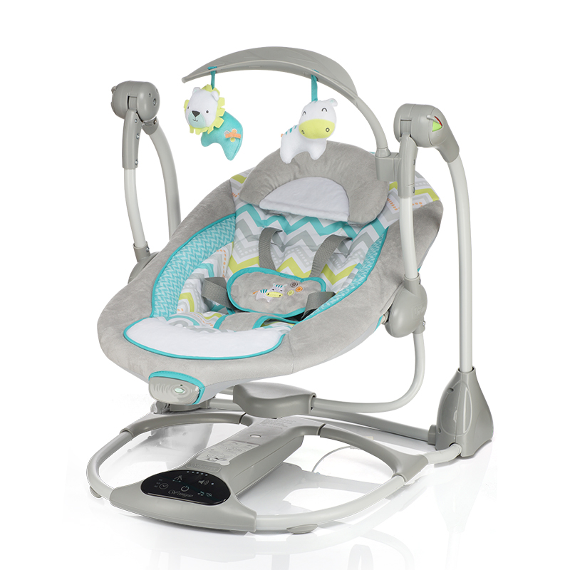 baby sleeper chair wood tables and chairs moonlight swing electric cradle rocking vibration with music plug adapter