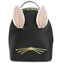 Ensso Новое поступление 2017 года Черный Япония Стиль изображениями животных 3D Кролик уха алмаз искусственная кожа девушки Книга сумка рюкзак сумки на плечо