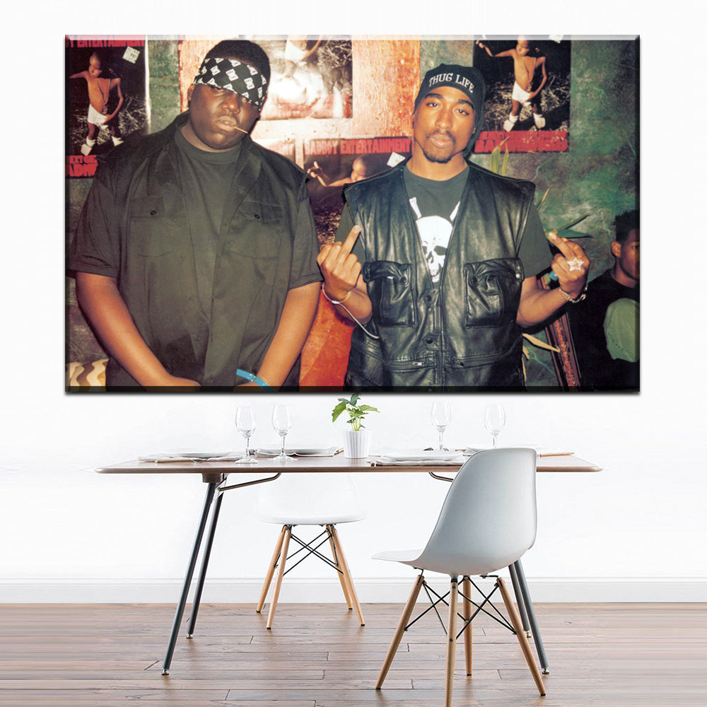 ZZ1712 Notorious B.I.G Tupac Biggie Rap Music Singer Star Art Print Poster Canvas Painting Wall Picture Home Decor prints art