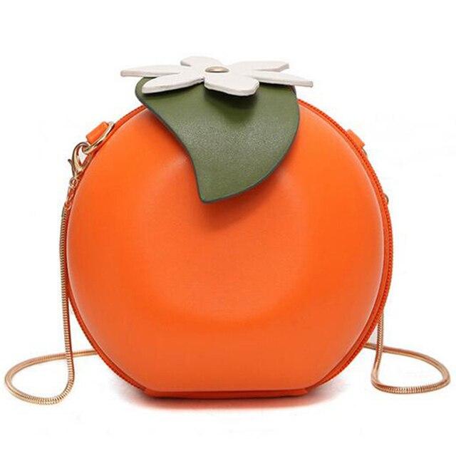Sfg House Fruit Orange Pattern Crossbody Bag Handbags 2017 Fashion Cute S Shoulder Chain Purses