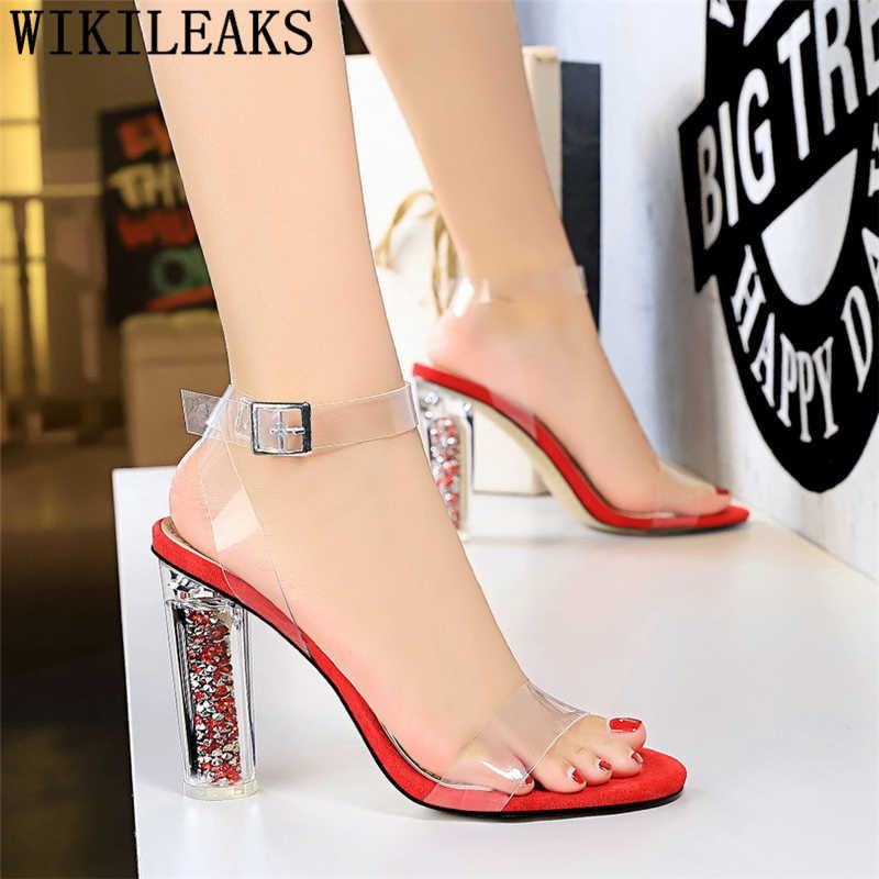 mary Jane shoes open toe heels transparent shoes designer sandals clear heels sandals high heels sexy wedding sandals buty damsk