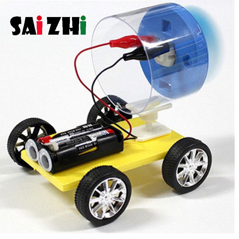 Saizhi bricolage voiture à moteur pneumatique développement intellectuel tige jouet Science expérience Kit enfants laboratoire ensemble cadeau d'anniversaire SZ3252