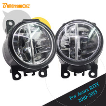 Buildreamen2 For Acura RDX 2010 2011 2012 2013 2014 2015 Car LED Lamp Front Fog Light Daytime Running Lamp DRL White 2 Pieces(China)