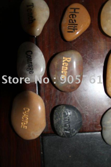 pebble stone engraving