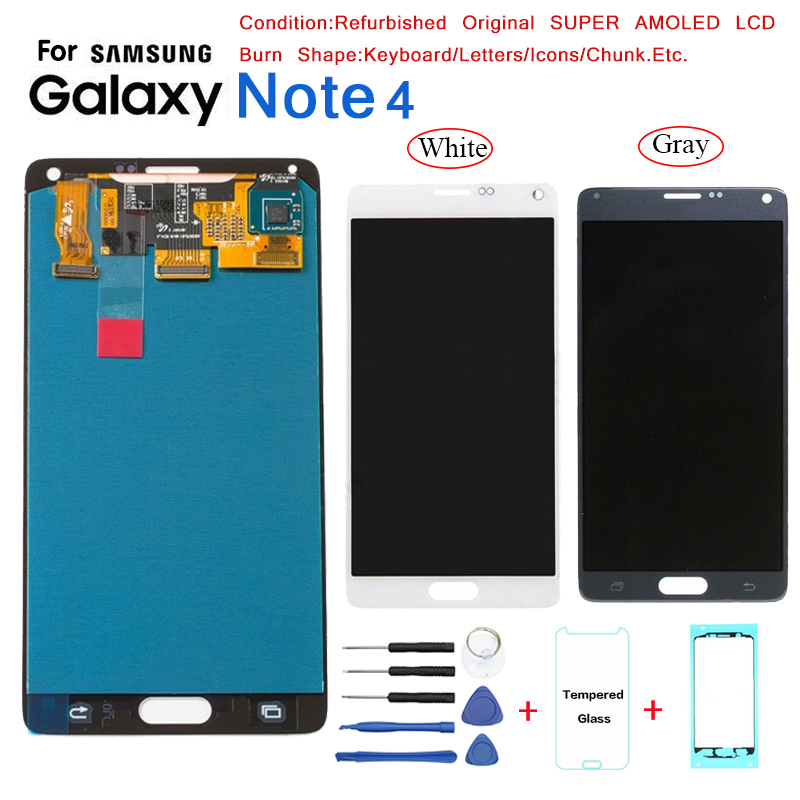 For <font><b>Samsung</b></font> <font><b>Note</b></font> <font><b>4</b></font> N910 N9100 <font><b>Display</b></font> <font><b>LCD</b></font> <font><b>Screen</b></font> replacement for <font><b>Samsung</b></font> N910W8 N910U N910T <font><b>lcd</b></font> <font><b>display</b></font> <font><b>screen</b></font> Burn Shadow image