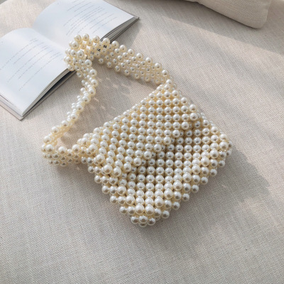 Luxury Pearl Pearls Bag Beading Bags for Women Top handle Women Handbags Acrylic Box Totes Brands