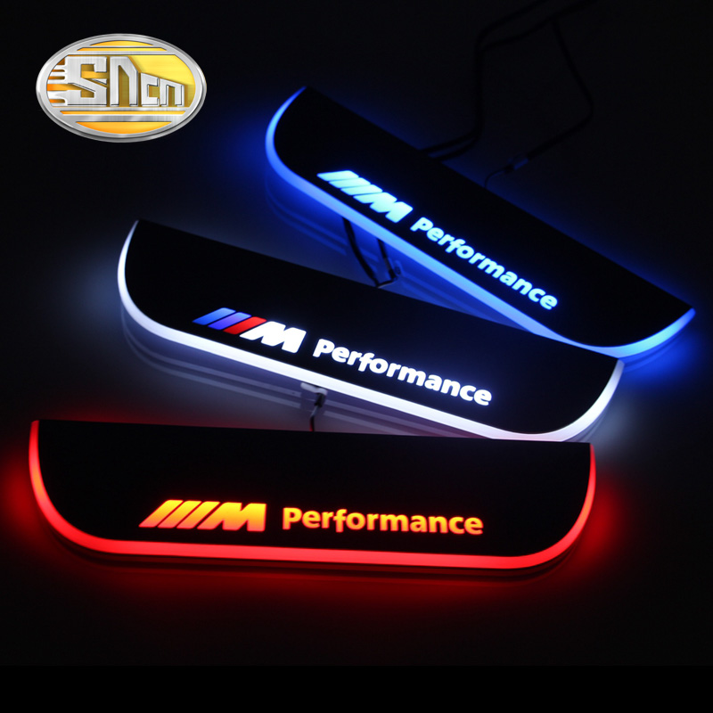 SNCN Waterproof Acrylic Moving LED Welcome Pedal Car Scuff Plate Pedal Door Sill Pathway Light For BMW F10 F18 2010 - 2015 waterproof acrylic moving led welcome pedal car scuff plate pedal door sill pathway light for hyundai i30 2013 2014