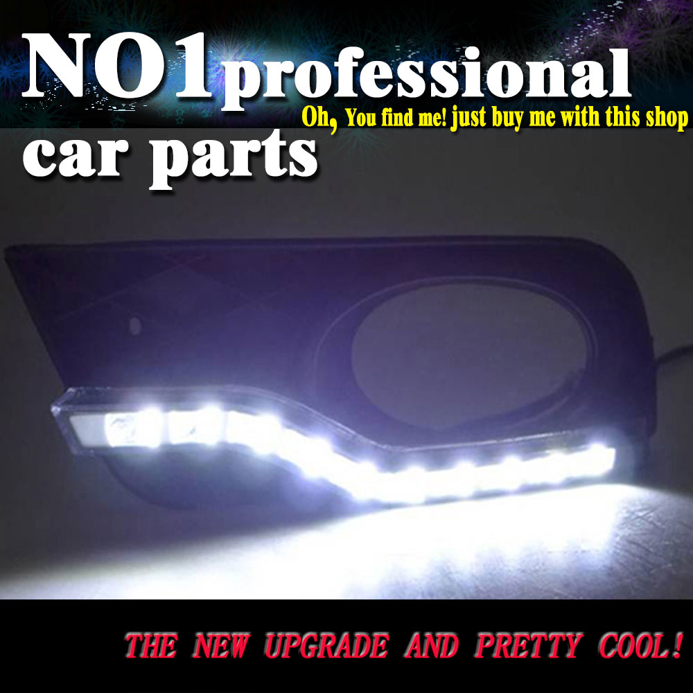 car styling 2011-2014 For Honda Civic LED DRL led fog lamps daytime running light High brightness guide LED DRL for lexus rx gyl1 ggl15 agl10 450h awd 350 awd 2008 2013 car styling led fog lights high brightness fog lamps 1set