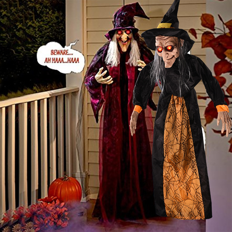 Halloween Witch Decoration Halloween Haunted House Props Voice-activated Toy Bar Party Terrorist Crane Ghost Luminous Electric EHalloween Witch Decoration Halloween Haunted House Props Voice-activated Toy Bar Party Terrorist Crane Ghost Luminous Electric E