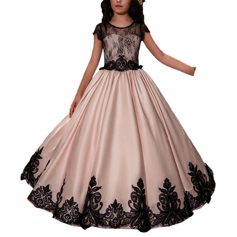 Ball Gowns   Flower     Girl     Dresses   Princess Birthday Party Wedding Gowns New Hot   Girls   Tulle Sleeveless Double O-Neck Lace Appliques
