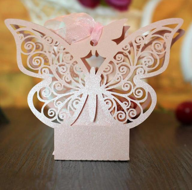 Large Erfly Laser Cut Wedding Favors Bo Candy Box Pearl Paper Gifts For Marriage Birthday