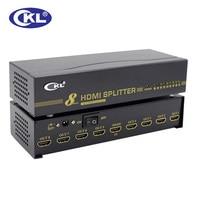 CKL HD 98 High Quality 1*8 8 Port HDMI Splitter Support 1.4V 3D 1080P for PC Monitor HDTV