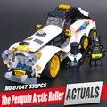 Lepin 07047 305 Unids Genuino Serie Batman El Ártico Guerra Pingüino Coche Clásico Conjunto de Bloques de Construcción Ladrillos de Juguetes Educativos 70911