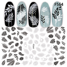 1pc Summer Nail Sticker Flamingo Flower Decals Letter Rose Leaf 3D Nail Slider Polish Manicure Adhesive Tips Nail Art Decoration 1pcs 3d nail sticker colorful glitter flower geometry new slider for manicure decoration tips nail art adhesive decals