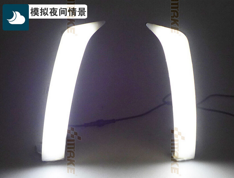 led drl daytime running light for Subaru Forester 2013-15, pure white, top quality, fast shipping