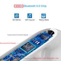 V8 TWS Pop up Bluetooth 5 0 Earphone 6D Sound Wireless Earbuds chip PK i10  tws i11 LK-TE9 LK TE9 i60 i12 tws i13 i30 i80 i20