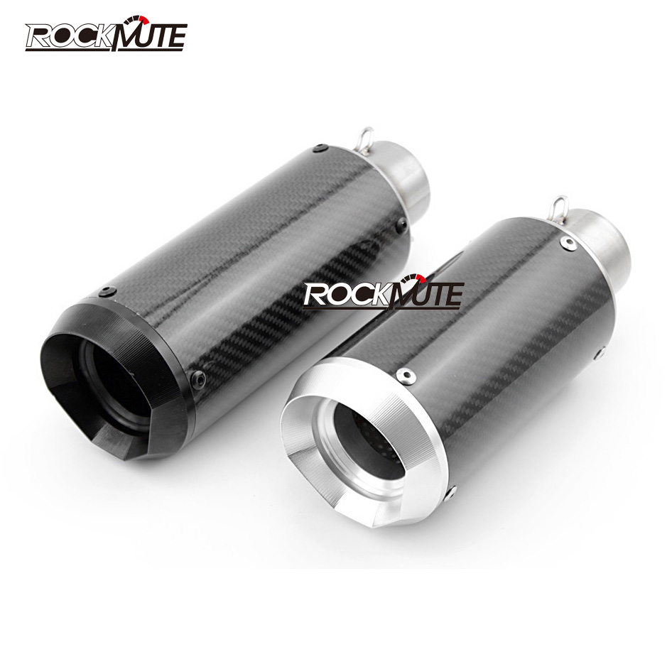 Motorcycle Accessories Stainless Steel Carbon Fiber Racing Exhaust Muffler Pipe for 51mm Universal Motorcycle, Street BikeMotorcycle Accessories Stainless Steel Carbon Fiber Racing Exhaust Muffler Pipe for 51mm Universal Motorcycle, Street Bike