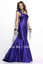 versandkostenfrei 2013 eine schulter satin drapiert bodenlange prom kleider meerjungfrau abendkleid n225