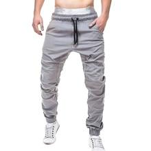 FeiTong pantalones Streetwear para hombres pantalones Hip Hop ropa de hombre  Pantalones Casual elástico Joggings sólido 8a37e0bbf84