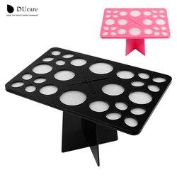 DUcare 1 مجموعة ماكياج فرش حامل الاكريليك فرش الجافة أصحاب الوردي والأسود يمكن اختيار أدوات تجميل