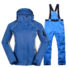 Women Ski Suits Winter Ski Jackets And Pants High-quality Waterproof Breathable Thermal Snowboard Snow Jacket Female Clothes Set 2018 new lover men and women windproof waterproof thermal male snow pants sets skiing and snowboarding ski suit men jackets