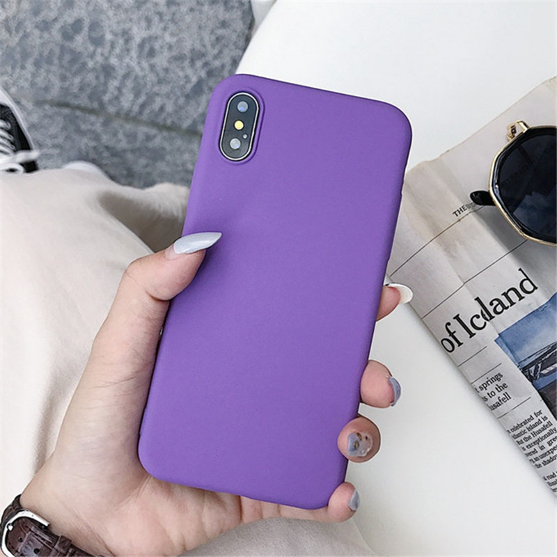 Image 3 - Matte Solid Color Cover Phone Case For Samsung Galaxy A10 A30 A40 A60 A70 M10 M20 M30 S8 S9 S10 Plus Lite Note 9 Soft Back Funda-in Fitted Cases from Cellphones & Telecommunications
