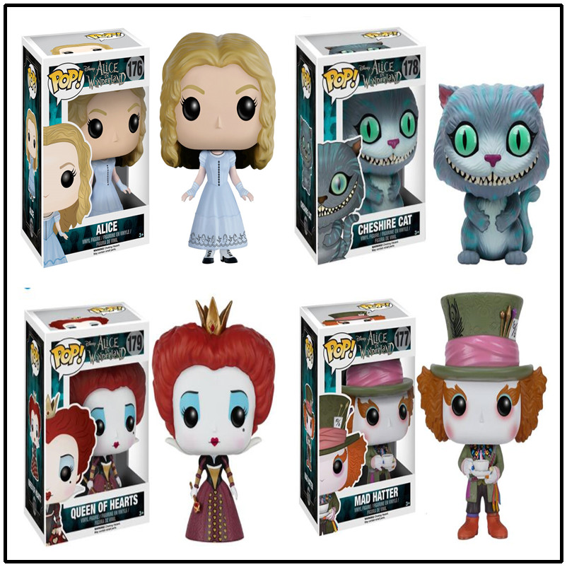 FUNKO POP Official Alice in Wonderland Theme Mad Hatter Action Figure Collection Alice Model Doll Hand Birthday Gift Doll Toy funko pop super heroes batman 01 vinyl figure collection model toy doll 10 5cm
