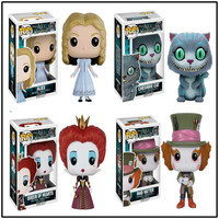 FUNKO POP Official Alice in Wonderland Theme Mad Hatter Action Figure Collection Alice Model Doll Hand Birthday Gift Doll Toy